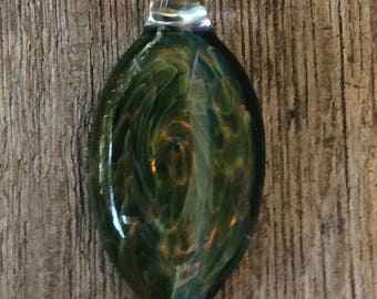 A Case in Point Hand Blown Glass Pendant, Necklace,  Focal Bead, One of a Kind
