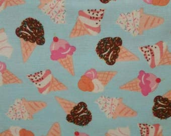 What's the Scoop? Ice Cream Fabric Blue  From Kanvas