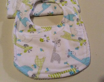 Baby bib & burp sets  15.00  3.00 extra for personalize
