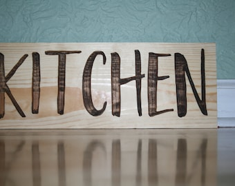 Wooden Carved Sign, Kitchen, Wall Hanging