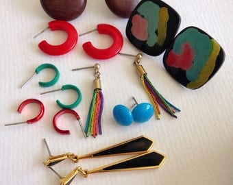 Earrings vintage costume jewellery