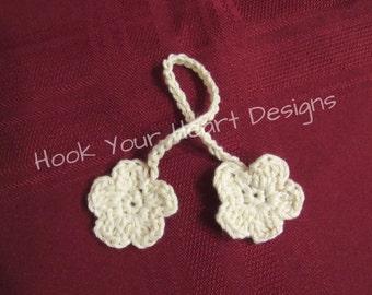 Umbilical Cord Tie - Flower - Organic Unbleached Cotton