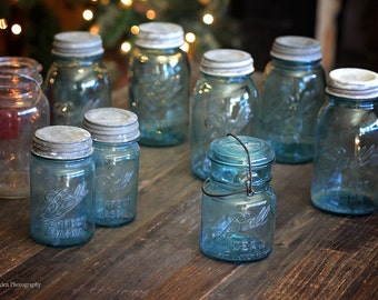 Vintage Ball Canning Jars - Mason Jars (lot of 9)