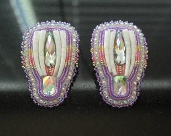 Native American Fan Style beaded earrings