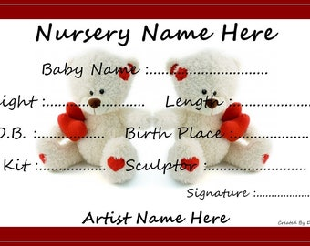 Personalised Reborn Birth Certificates