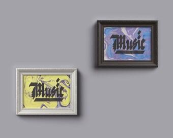 Music A5 print