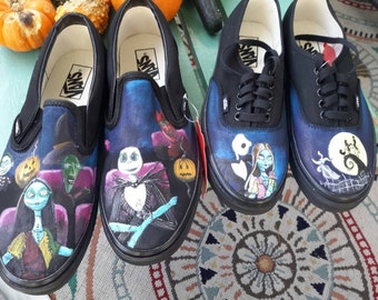 A Nightmare Before Christmas hand painted shoes