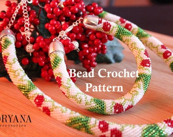 Bead Crochet Pattern for Beginners Viburnum Traditional Ethnic Scheme for Beading Bracelet and Accessories