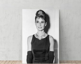 Audrey Hepburn Breakfast at Tiffanys Black and White /Canvas Print Home Decor /Iconic Wall Art/Gallery Wrapped Canvas Art/ Ready to Hang