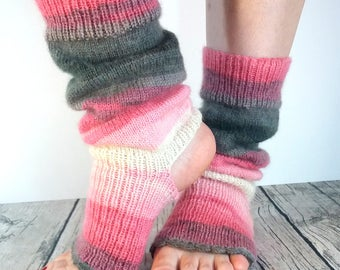 Wool Socks Yoga / Dance / Pilates / Pedicure / Massage / Finger less / Legwarmers. Ready to ship