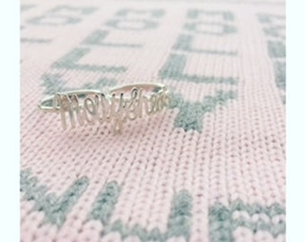 Double Finger Handwriting Ring
