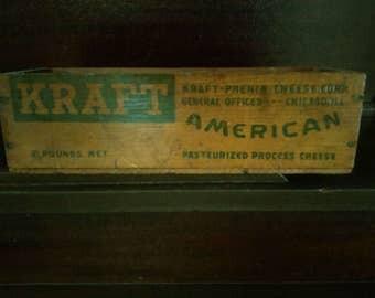 Vintage Kraft American Cheese Wood Box