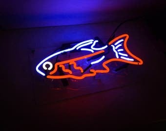 """New 'Tropical Fish' Coffee Restaurant Business Banner Neon Light Sign 15""""x10"""""""