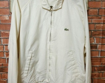 MEGA SALE 80's Vintage IZOD Lacoste Jacket Harrington Style Size L