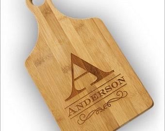Personalized Bamboo Paddle Cutting Board - 3859_1
