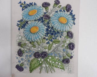 Jie Gantofta -1970 Swedish decor wall- Bouquet - collectible plaqe/Designed by Aimo Nietosvuori 1970's