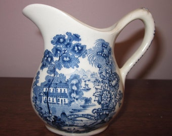 Vintage Minature Pitcher Creamer from Royal Staffordshire Tonquin Pattern.