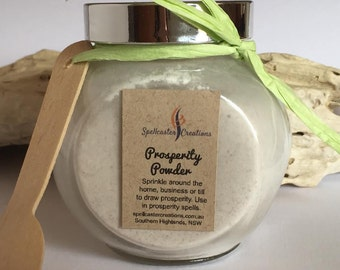 Prosperity Powder 150g Jar - Magic Wicca Witchy Attract Money and Luck