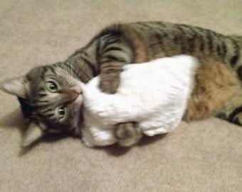 "Furry Catnip Cat Pillow Toy 7"" / Catnip Kicker Pillow"