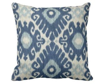 Blue and Light Blue Pillow Cover, White and Grey Pillow Cover, Decorative Throw Pillow Cover, Couch Pillow, Pillow Sham, Blue Pillow Cover
