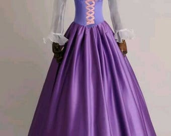 Tangled dress cosplay costume