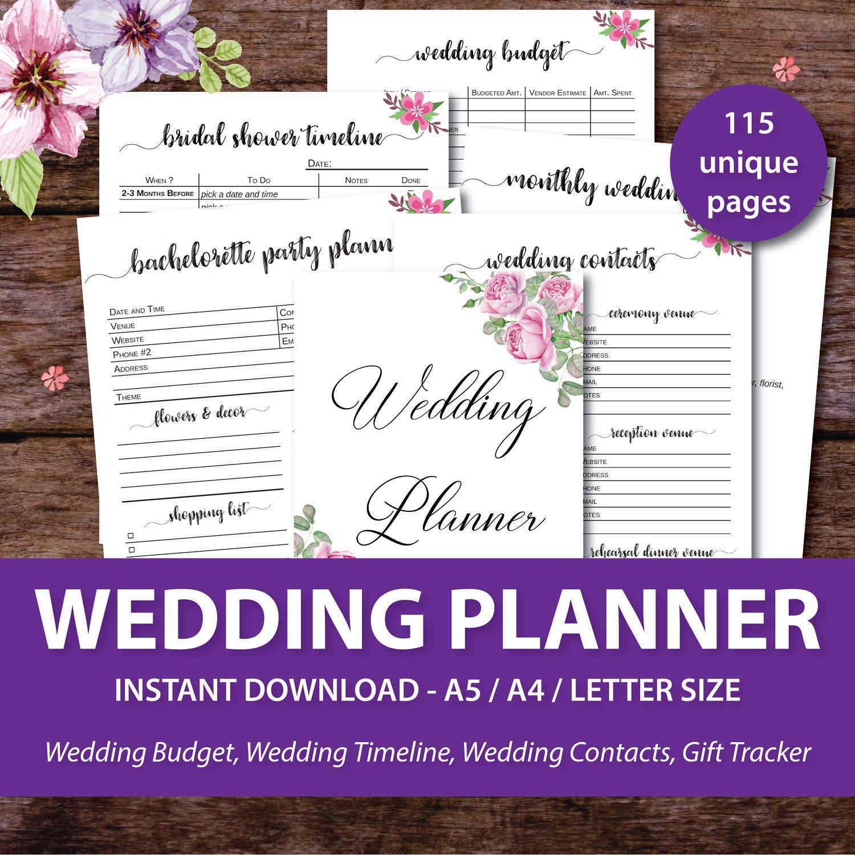 wedding planner printable wedding binder printables wedding