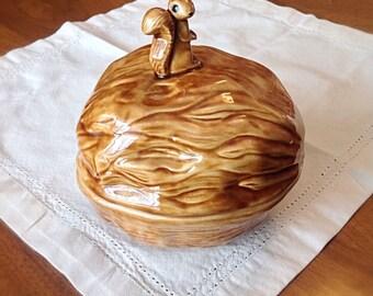 Vintage squirrel nut bowl