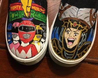 Power Ranger shoes (Garanimals/Faded Glory, Vans, or Converse)