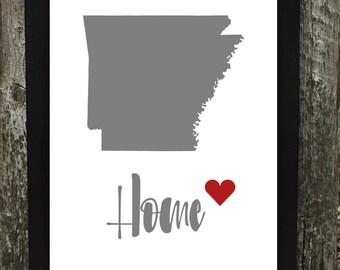 Arkansas Print, Arkansas Digital Download, States Downloadable Print