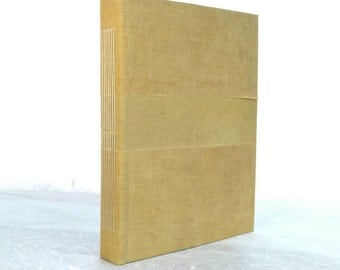 Longstitch notebook with geometrical handdyed cover (A5, 15x21 cm 6x8 inch)