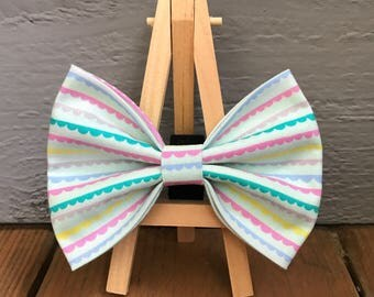 Ruffled lines Dog Bow Tie