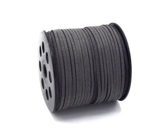 Cord suede 3mm gray in batches of 2, 5, 8, 10 meters