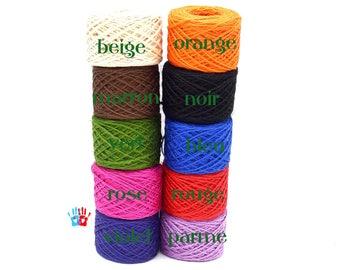 String of hemp 2 mm in packs of 5/10/20 meters various colors