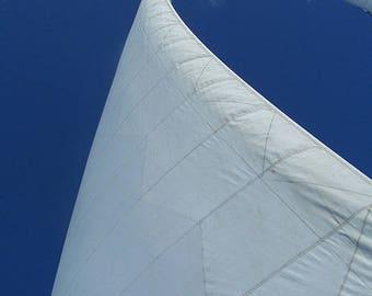 Sailboat against an Azure Sky