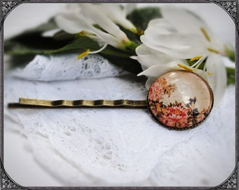 Cabochon flower hair pin Asia Flower