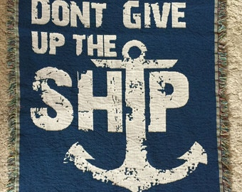 Dont Give Up The Ship - Lake Erie Cotton Throw