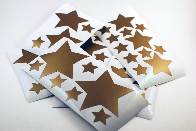 Gold Star Wall Decor: Gold Vinyl Star Wall Decals Star Decals Nursery Bedroom