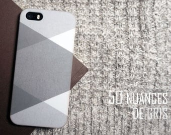 """Exclusive PROMO-20% with code [HAPPYLIFE] - case for Iphone 5 / 5 S/SE or Iphone 6 / 6s """"50 shades of gray"""""""