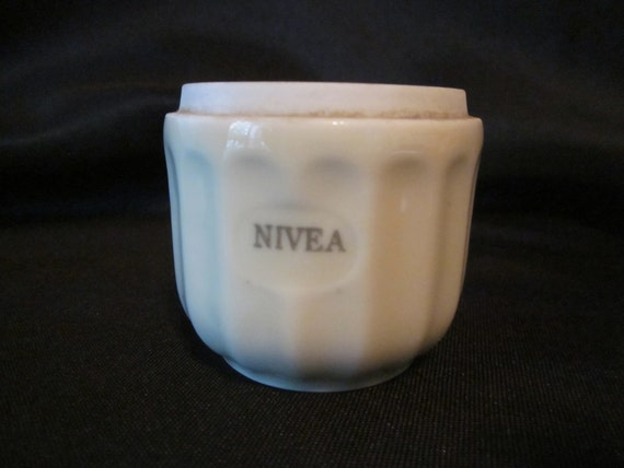 Nivea Jar Made in Germany Buttery Ivory Porcelain Cold Cream Jar