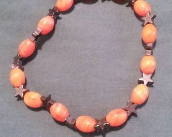 Night in the Woods Saint Rubello Stars and Flames Beaded Bracelet