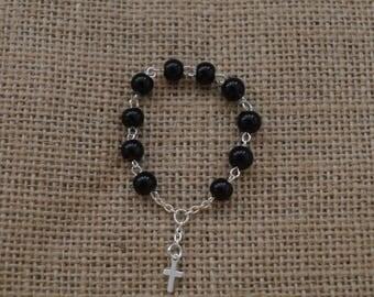 Black Jasper Pocket Rosary