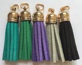Cools Gold Capped Zipper Tassels - 4.5cm