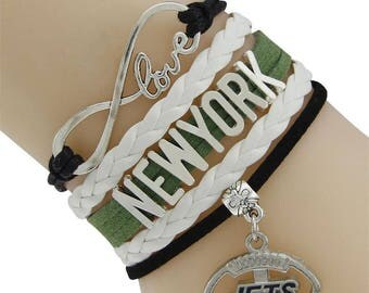 New York Jets Love Friendship Charm Bracelet