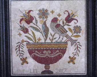 Fraktur Flowers by La-D-Da Counted Cross Stitch Pattern/Chart