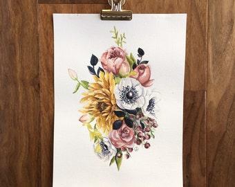 Vintage Bouquet PRINT