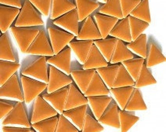 Triangle Ceramic Mosaic Tiles - Warm Sand  50g