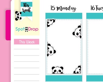 Baby Panda Bear Peekaboo Stickers, Mom Planner Stickers // BPB01