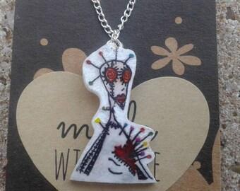 Voodoo Girl Tim Burton pendant necklace