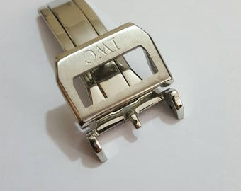 18mm solid stainless deployment clasp fits to 20mm and 22mm IWC watches.