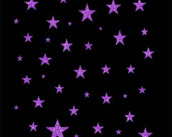Purple Glitter Stars Collection Clip Art, Twinkle, Sparkly, Celebration, Starry
